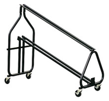 Music Stand Storage Cart hamilton Stands. Hal Leonard #KB100. Published by Hal Leonard.  Sturdy and lightweight, this stand has large casters for the ease of moving. Two casters have brakes for secure positioning of cart. It is made of aluminum frames and rails in a durable black powder coat finish, and can hold 24 stands of model KB95D or 18 stands of model KB1D, E or F stands. It also holds many other brands as well.