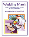 """Wedding March from A Midsummer's Night Dream by Felix Mendelssohn for Harp composed by Felix Bartholdy Mendelssohn (1809-1847). Arranged by Sylvia Woods. For Harp. Harp. Softcover. 4 pages. Published by Hal Leonard.  Felix Mendelssohn composed the """"Wedding March"""" in 1842 as a part of his suite for Shakespeare's play A Midsummer Night's Dream. It is most commonly played as a wedding recessional. This sheet music includes two harp arrangements. The first is for intermediate to advanced lever harp players, or pedal harpists. The second is a bit easier. It can be played on small harps with 22 or more strings, from C to C."""