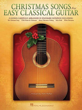 Christmas Songs for Easy Classical Guitar by Various. For Guitar. Guitar Solo. Softcover. 40 pages. Published by Hal Leonard.  25 songs carefully arranged in standard notation for easy classical guitar are presented in this folio, including: The Christmas Song (Chestnuts Roasting on an Open Fire) • Do You Hear What I Hear • Have Yourself a Merry Little Christmas • I'll Be Home for Christmas • Merry Christmas, Darling • Silver Bells • White Christmas • and more.