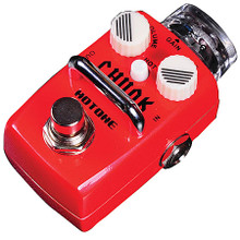 """Skyline CHUNK Distortion Stomp Box (Compact Vintage Crunch Pedal). Samson Audio. General Merchandise. Hal Leonard #TPSDS1. Published by Hal Leonard.  The Hotone CHUNK stomp box is all about helping you achieve that vintage British Tone that has endured the test of time. This pedal will give you that classic crunch, while still remaining smooth and clear. As you dial up the gain you will feel as if are adding more and more cabinets to your vintage stack. Chunk is your little friend with that big British sound. Based on the legendary British amplifier, the specially optimized classic Crunch circuit has 4 diodes which were selected from thousands of models. This pedal will take you through time from the 70s to 90s and even hover in punk, hard rock, and heavy metal. The high gain tone never affects string resolution when strumming and does away with that annoying background noise, so that the """"noise"""" you make is the kind you want to hear.  Features include:  • True Bypass Footswitch  • Zinc Alloy Outer Cover  • Transparent top knob and 2 noctilucent small knobs  • Cool LED lights  • Current Consumption: 18 mA  • Dimensions: 74mm (D) x 44mm (W) x 44mm (H)  • Weight: 190 g."""