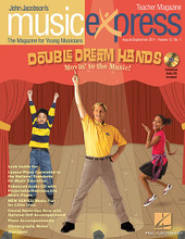 Double Dream Hands: Movin' to the Music Vol. 12 No. 1 (August/September 2011). By Justin Bieber. By Irving Berlin, John Higgins, John Jacobson, and Roger Emerson. Arranged by Mark A. Brymer. For Choral (BASIC COMPLETE PAK). Music Express. Published by Hal Leonard.  Songs: Funny Feet (a.k.a. Double Dream Feet), Never Say Never (Justin Bieber), Alexander's Ragtime Band (Irving Berlin), Freedom!, Let's Go!, Spotlight: Irving Berlin, Luigi's Listening Lab: Alexander's Ragtime Band (Irving Berlin), John Jacobson's Musical Planet: Haiti, and more! Teacher Magazine includes Lesson Plans correlated to the National Standards, and 1 Enhanced Audio CD that includes the Amazing Slow Downer and PDFs of selected material. Digital and Premium Paks include a Digital Student Magazine on CD-ROM for interactive projection in the music classroom.