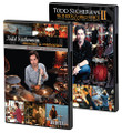 Todd Sucherman - Methods & Mechanics Complete DVD Set by Todd Sucherman. For Drums. DVD. DVD. Hudson Music #TODD 2 PACK. Published by Hudson Music.  Get both volumes of Todd Sucherman's acclaimed DVDs in one convenient pack! Watch Todd perform and offer analysis and breakdowns, including the music of Styx and others. Todd also covers topics such as odd phrasing, hand exercises and applications, concepts for practice routines, and an extensive look at ghost notes. He also touches on several topics rarely covered on other drum DVDs, including career development ideas and concepts to navigate through life as a touring/working musician. Many other concepts and tips are also presented, along with several new drum solos.