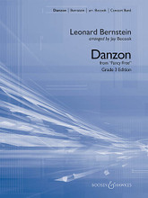Danzon (from Fancy Free) composed by Leonard Bernstein (1918-1990). Arranged by Jay Bocook. For Concert Band (Score & Parts). Boosey & Hawkes Concert Band. Grade 3. Published by Boosey & Hawkes.  Influenced by the traditional Cuban dance style, Danzon is a brilliant piece composed by Leonard Bernstein in collaboration with famed choreographer Jerome Robbins for the 1944 ballet Fancy Free. Jay Bocook's skilled adaptation for band captures the sensual mood of the original and offers a unique programming choice. Dur: 3:00