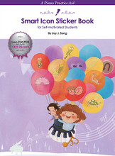 Smart Icon Sticker Book (A Piano Practice Aid for Self-Motivated Students). For Piano/Keyboard. Educational Piano Library. Softcover. 12 pages. Published by Hal Leonard.  The Smart Icon Sticker Book is a practice aid for piano students that includes over 1300 specialized icon stickers that can be used with any piece of music. Each icon sticker character represents a specific technical or musical element, helping students to overcome their own difficulties while practicing. Students can use these stickers with their teacher or by themselves. A poster is included with a legend explaining each character's technical or musical goal.