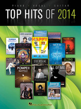 Top Hits of 2014 by Various. For Piano/Vocal/Guitar. Piano/Vocal/Guitar Songbook. Softcover. 114 pages. Published by Hal Leonard.  16 of the biggest hits of the year in piano/vocal/guitar arrangements, including: All of Me (John Legend) • Best Day of My Life (American Authors) • Dark Horse (Katy Perry) • Fancy (Iggy Azalea) • Happy (Pharrell Williams) • Let It Go (Idina Menzel) • Pompeii (Bastille) • Problem (Ariana Grande) • Raging Fire (Phillip Phillips) • Timber (Pitbull featuring Ke$ha) • and more.