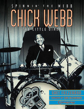 "Chick Webb - Spinnin' the Webb: The Little Giant by Chick Webb. For Drum. Reference. Softcover. 68 pages. Published by Centerstream Publications.  Chick Webb's short professional career (he died at age 30) served as an inspiration to young drummers at the dawn of America's big band/swing era. Simply stated, Webb is the guy who inspired the guys, who inspired the guys, who inspired you. Gene Krupa: ""Chick taught me more than anyone."" Buddy Rich: ""As a soloist, Chick had no equal at the time."" Papa Jo Jones ""I don't speak of Chick Webb, the drummer, I speak of Chick Webb, the epitome."" And Webb accomplished this as a black man crippled with a debilitating disease in a segregated society. His contributions as a drummer/bandleader changed the course of music in America, not the least of which was discovering Ella Fitzgerald. Author Chet Falzerano chronicles Webb's greatness in this celebration of the ""little giant"" including the recreation of Webb's drum set."