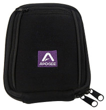 Carrying Case for ONE for Mac Apogee. General Merchandise. Hal Leonard #20001033000. Published by Hal Leonard.  The ONE Carrying Case is a soft neoprene case offering complete protection for ONE. Featuring two interior pockets for holding ONE, the USB and the breakout cables, one small exterior pocket, a belt loop for easy connection to an instrument or laptop bag, and an embroidered Apogee logo.