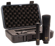 440/441 Recording Condenser Mic Kit (Set of 2 Microphones in a Protective Case). MXL Mics. General Merchandise. Hal Leonard #440/441. Published by Hal Leonard.  The MXL 440/441 is a beautiful microphone ensemble designed to complement a wide variety of vocal and instrument applications. The 440 studio condenser microphone combines a FET preamp with an electrically-balanced output and delivers an uncompromised tonal quality perfect for all studio applications. The MXL 441 instrument microphone delivers the dynamic range required in the most demanding instrument applications and is perfect for use on the road as well as on acoustic instruments and overhead studio drums.