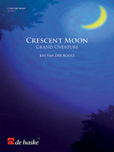 Crescent Moon (Grand Overture). Composed by Jan Van der Roost. For Concert Band (Score & Parts). De Haske Concert Band. Grade 5. De Haske Publications #1115232140. Published by De Haske Publications.  Crescent Moon is a festive overture composed by Jan Van der Roost and was commissioned by a Japanese wind band. The piece begins solemnly in the middle register but gradually becomes brighter and more brilliant as the moon rises in the sky and begins to give more light. After this somewhat stately introduction, a virtuoso allegro emerges, displaying technical prowess in all registers, before the piece culminates with a joyful mood of optimism. An ideal concert opener, Crescent Moon will fill your ears with joy and happiness!