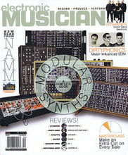 Electronic Musician Magazine April 2015 ELECTRONIC MUSICIAN. 74 pages. Published by Hal Leonard.  Electronic Musician – April 2015 Cover Stories: Modular Synths, A Complete Guide • New Gear from NAMM • The Decemberists Iconic Rock Sessions • Dirtyphonics Metal-Influenced EDM • Masterclass, Make an Extra Cut on Every $ale • Reviews! Steinberg Cubase Pro 8, Unity Audio Pebble and Bam Bam, Zynaptiq Unchirp, Mackie DL32R, Resident Audio T4, Unfiltered Audio Sandman.