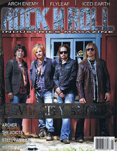 Rock N Roll Magazine February / March 2015 ROCK N ROLL. 98 pages. Published by Hal Leonard.  Rock N Roll Industries Magazine – No. 12 Cover Stories: Devil City Angels • Archer, Hot New Music • The Adicts, Joker in the Pack • Steel Panther, Always a Good Time • Wayne Static, Last Interview • Arch Enemy • Flyleaf • Iced Earth.