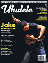 Ukulele Magazine Winter 2014 Uke #7 Ukulele Magazine. 98 pages. Published by Hal Leonard.  Ukulele – Winter 2014 Cover Stories: Jake Shimabukuro Virtuoso with a Heart of Gold • Uke Punk Explosion in Great Britain • Zee Avi Rides the Asian Uke Wave • The Wizardy of Iz • Holly Jolly Song Contest: Win a Cordoba Uke & GHS Strings! • Gear Reviews: Blackbird Clara, Gretsch G-9100L, Gretsch Camp Uke, Seagull Merlin • 5 Songs to Play: The Ramones Cretin Hop, Traditional Banks of the Ohio, Plus Holiday Faves Deck the Halls, Auld Lang Syne, Up on the Housetop