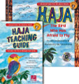 """HAJA: Classroom Kit for Choral (CLASSRM KIT). Expressive Art (Choral). Published by Hal Leonard.  """"I want to see you flap flap flap your wings, and drum drum drum your heartbeat..."""" even your littlest rhythm-makers will song, clap, dance and cheer as Haja (AH-ja) learns to fly! Kid-tested and teacher-approved ... Musical Tales for Modern Minds' HAJA TEACHING GUIDE offers step-by-step multicultural lesson plans and student hands-on learning activities. Aligned to our national core curriculum standards for young learners to develop their multiple intelligences and creative expression, this Guide provides ways to engage with music-making, language arts and multi-sensory experiences. Through the story of Haja, The Bird Who was Afraid to Fly and the companion song """"Fly Haja Fly"""", students can identify with Haja's transformation as she overcomes her fear. They'll take her example of success to heart as she builds her confidence, gaining self-awareness and determination. Young students will explore and practice learning sounds and rhythms, and identifying colors and patterns. The guide also offers an interdisciplinary introduction to West African instruments, designs, food and more. Suggested for ages 4-7. """"Today's lesson was a huge success! The kids loved it! They loved the story, song, drumming.... everything. They wanted to listen to the song several times and on the way out I could hear them singing the chorus ..."""" (music educator, Wharton Elementary, Lancaster PA) The Classroom Kit includes Haja hardcover storybook/listening CD and teaching guide."""