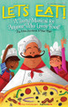 """Choral (Singer 5 Pak) A Tasty Musical for Anyone Who Loves Food!. Composed by John Jacobson and Mac Huff. Expressive Art (Choral). 44 pages. Published by Hal Leonard.  Hey, what's cookin'? Join Hungry Hank, Famished Fanny, Ravenous Randi, Picky Pete and more wacky characters in this upbeat and tasty musical all about their insatiable appetites! We are fortunate to live in a land of plenty, and as we celebrate food in wonderfully wacky ways with songs like """"The Fast Food Tango,"""" """"Chicken Pot Pie,"""" """"My Banana Split"""" and """"Pizza,"""" we are also reminded to be """"Thankful"""" for the bounty we regularly enjoy. Designed for performers in upper elementary and middle school, this 40-minute musical features six original songs with connecting script and speaking parts adaptable to casts of 20 or more. The Teacher Edition is filled with quality performance material including piano/vocal song arrangements and choreography, script, and helpful production guide. For added value, the ready-to-use student books include songs and script, and will enhance the musical experience for your young aspiring actors/singers!      Thankful      A Banana Split      Grandma's Pretty Good Chicken Pot Pie      Let's Eat!      The Fast Food Tango      We Love Pizza      What's Cookin'?"""