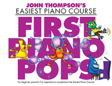 Piano John Thompson's Easiest Piano Course. Music Sales America. Softcover. 32 pages. Music Sales #WMR101288R. Published by Music Sales.  A fun repertoire of easy-to-play tunes for beginning pianists, specially created and graded to be used with John Thompson's Easiest Piano Course series.  The pieces in this book are ideal for students reaching Part Two, Part Three or Part Four of the course. As well as reinforcing basic technique, the selection of catchy, well-known pop songs featured in First Piano Pops will help aspiring pianists to develop their musicality while increasing the enjoyment of learning. 15 songs, including: Apologize • Bridge over Troubled Water • Clocks • (They Long to Be) Close to You • Imagine • Lean on Me • Piano Man • Someone like You • Your Song • and more.      Take a Bow      Someone Like You      I Wish I Knew How It Would Feel To Be Free      Lean On Me      Run      Clocks      Make You Feel My Love      Imagine      Apologize      Everytime      Bridge Over Troubled Water      (They Long To Be) Close To You      Piano Man      Mad World      Your Song