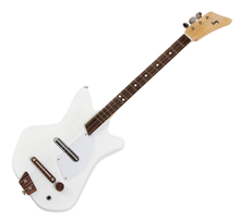 Loog Guitars. General Merchandise. Hal Leonard #LGE02W. Published by Hal Leonard.  13x22.75 inches.  The Electric Loog is cute and small, but it's not a toy: it's a real guitar, made out of real wood and equipped with a screaming pickup that sounds amazing whatever style you play. Because it only has three strings and a narrow neck, it's easier for small children to form chords and to make sense of what they are playing.  All Loog Guitars come unassembled, as we believe that building your own guitar is an experience that helps you bond with the instrument in a deeper level. It is also a bonding experience between parents and their children, who can build their Loog together and share their love of music. Loog Guitars pair with the Loog iOS app filled with video lessons designed to get you playing songs – not just scales or exercises – on day one.