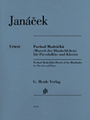 """Piccolo, Piano Accompaniment Piccolo and Piano. Composed by Leos Janacek (1854-1928). Edited by Jirí Zahrádka. Henle Music Folios. Softcover. G. Henle #HN1143. Published by G. Henle.  The little march composed in 1924 forms the nucleus of the suite for wind instruments Mládí (51481093 / 51487093), in which the jaunty flute theme weaves through the 3rd movement. Incidentally, the """"bluebirds"""" do not refer to birds but to the light blue robes worn by the choristers at the monastery in Brno, which Janácek entered at the age of eleven. Almost 60 years later during a visit to Potsdam he remembered the Prussian troops' invasion of Brno and, with this in mind, wrote a chamber music miniature with a military element. Henle's Janácek edition by Jirí Zahrádka, a specialist on the life and work of the great Czech composer, contains top-quality Urtext as well as detailed information on the work's genesis and transmission."""