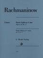 Piano (Piano) Piano Solo. Composed by Sergei Rachmaninoff (1873-1943). Edited by Dominik Rahmer. Henle Music Folios. Softcover. G. Henle #HN1279. Published by G. Henle.  Between 1914 and 1917, Sergei Rachmaninoff published two volumes of Études-Tableaux - a term coined by the composer with which he succeeded in expressing the blend of technical studies with programmatic character pieces. As with the concert etudes of Chopin or Liszt, they represent a technical and interpretational touchstone for every pianist.