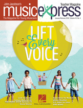 Choral (Teacher Magazine w/CD) January/February 2016. By Bobby Darin and The Beatles. By Bobby Darin (1936-1973), John Jacobson, John Lennon, Paul McCartney, and Rollo Dilworth. Arranged by Emily Crocker, John Higgins, and Roger Emerson. Music Express. Softcover with CD-ROM. 68 pages. Published by Hal Leonard.  Get on board the Music Express with this essential resource for general music classrooms and elementary choirs. Join John Jacobson and friends as they provide you with creative, high-quality songs, lessons and recordings that will keep students engaged and excited! This January/February 2016 issue includes: Lift Every Voice, Splish Splash, Rio Rio, All You Need Is Love, Follow the Drinking Gourd, March of the Presidents, plus a Listening Map on Haydn's Military Symphony, a Musical Planet feature on Chile, and a Video Walk-through of the Benning Violins Workshop, plus many more songs and activities in the Teacher Magazine!