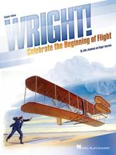 Celebrate the Beginning of Flight. Composed by John Jacobson and Roger Emerson. Expressive Art (Choral). Softcover. Published by Hal Leonard.  The epic story of The Wright Brothers and their flying machine comes to life in modern day rap, song and narration. Your cast and crew are going to love the cutting edge feel to this hip-hop style musical about two of America's true heroic figures that will speak to cast and audience for today. Told by a group of intrepid reporters who are tailing the inventors, we discover that, as incredible as Orville and Wilbur's feat of inventing the first successful airplane was, the real lesson may well be the example they demonstrated by building their future and dreams on higher ground, and setting their sights up and not down. Right? Wright! This 35-minute musical features five original songs with connecting script and a flexible cast of newspaper reporters and rapping reporters. The Teacher Edition is filled with quality performance material including piano/vocal arrangements and choreography, script and helpful production guide. For added value, the ready-to-use student books include vocal parts and script, and come in handy 10-paks. To perform with recordings, there are 2 options. A Performance/Accompaniment CD is available separately. For cost-saving value, the Performance Kit/Audio includes the Teacher Edition, 20 Singer books and digital access to performance/accompaniment audio recordings. 35 minutes. Suggested for grades 4-8.