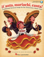 Choral (BOOK WITH AUDIO ONLINE) Traditional Mexican Songs for the Elementary Music Class. Arranged by Jose Hernandez. Expressive Art (Choral). Softcover Audio Online. Published by Hal Leonard.  Experience authentic mariachi styles and rhythms in your general music class! Eight traditional Mexican songs transport you and your students to a place rich with harmony and ensemble camaraderie. These arrangements by 3-time Grammy nominated world-renowned mariachi composer and performer Jose Hernandez, work well with piano or guitar accompaniment. Add pitched Orff instruments for even more fun. The Teacher Edition offers vocal parts with Spanish lyrics and pronunciation guides, piano and guitar accompaniment, Orff parts, brief song translations and history. This all-in-one collection also includes digital access to authentic recordings produced by Maestro Hernandez and performed on traditional mariachi instruments for added authenticity! Students can model the singing and then perform with the full-sounding accompaniment recordings. You will also receive digital access to PDFs of singer and instrument parts when you purchase the Teacher Edition. Suggested for grades 3-6.