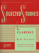 Clarinet For Clarinet. Edited by Himie Voxman. Concert Band Method. Woodwind Method. 80 pages. Rubank Publications #RUBL78. Published by Rubank Publications.  These excellent studies are the next step for students who have completed the advanced level method for their instrument. The full-page etudes in this series, key-centered and supported by scale and arpeggio exercises, take the student to that next level of performance wherein their accumulated skills allow them to play full-length performance pieces with a high level of musicianship and competence. As such, many states include these pieces in their all-state audition lists.