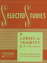 Trumpet, Cornet For Cornet or Trumpet. Edited by Himie Voxman. Concert Band Method. Brass Method. 80 pages. Rubank Publications #RUBL108. Published by Rubank Publications.  These excellent studies are the next step for students who have completed the advanced level method for their instrument. The full-page etudes in this series, key-centered and supported by scale and arpeggio exercises, take the student to that next level of performance wherein their accumulated skills allow them to play full-length performance pieces with a high level of musicianship and competence. As such, many states include these pieces in their all-state audition lists.