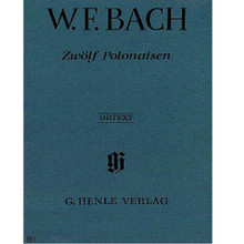 12 Polonaises (Piano Solo). By Wilhelm Friedemann Bach (1710-1784). Edited by Andreas Bohnert. For piano solo. Piano (Harpsichord), 2-hands. Henle Music Folios. Pages: IX and 31. SMP Level 10 (Advanced). Softcover. 39 pages. G. Henle #HN485. Published by G. Henle.  About SMP Level 10 (Advanced)  Very advanced level, very difficult note reading, frequent time signature changes, virtuosic level technical facility needed.  Contents:      Polonaise, C Major (Piano Solo) Performed by Wilhelm Friedemann Bach     Polonaise, C Minor (Piano Solo) Performed by Wilhelm Friedemann Bach     Polonaise, D Minor (Piano Solo) Performed by Wilhelm Friedemann Bach     Polonaise, D Major (Piano Solo) Performed by Wilhelm Friedemann Bach     Polonaise, E Flat Major (Piano Solo) Performed by Wilhelm Friedemann Bach     Polonaise, E Flat Minor (Piano Solo) Performed by Wilhelm Friedemann Bach     Polonaise, E Minor (Piano Solo) Performed by Wilhelm Friedemann Bach     Polonaise, F Major (Piano Solo) Performed by Wilhelm Friedemann Bach     Polonaise, F Minor (Piano Solo) Performed by Wilhelm Friedemann Bach     Polonaise, G Major (Piano Solo) Performed by Wilhelm Friedemann Bach     Polonaise, G Minor (Piano Solo) Performed by Wilhelm Friedemann Bach     Polonaise, E Major (Piano Solo) Performed by Wilhelm Friedemann Bach