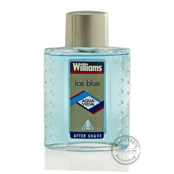Williams Ice Blue Aqua Velva Aftershave at MAGUIRE'S Barbershop