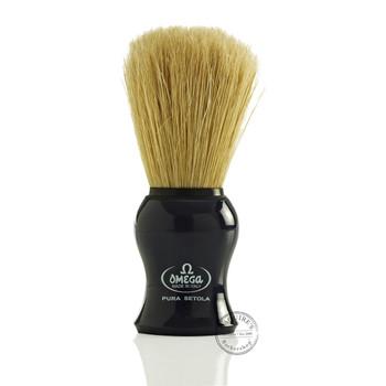 Omega #10065 Pure Bristle Shaving Brush in Blue