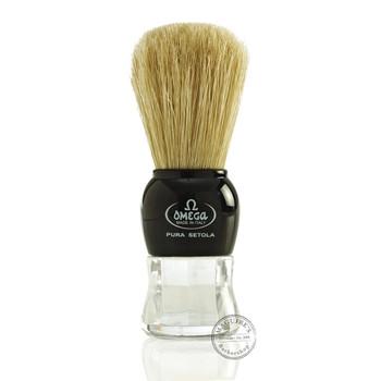 Omega #10072 Pure Bristle Shaving Brush in Black