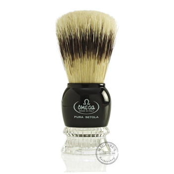Omega #10275 Pure Bristle Shaving Brush