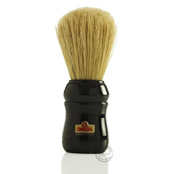 Omega #10049 Pure Bristle Shaving Brush in Black