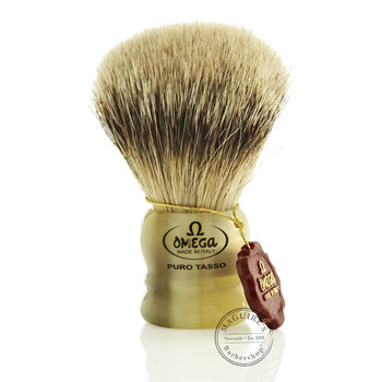 Omega #599 Pure Badger Hair Shaving Brush
