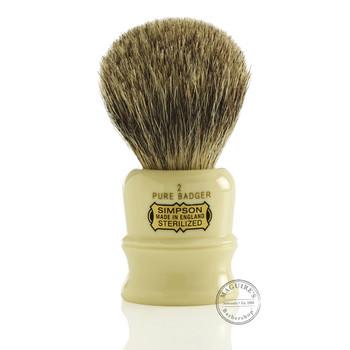 Simpsons Duke D2 - Pure Badger Shaving Brush