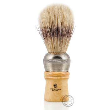 Vie-Long 4402 Mix Bristle and Extra White Horse Hair Professional Shaving Brush
