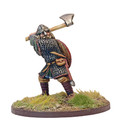 SAGA-99  Anglo-Danish Warlord on Foot Swinging Axe