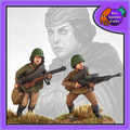 BAD-32  Female Soviet Infantry w/ LMG & Loader