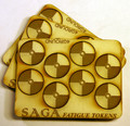 SAGA-17  MDF Fatigue Markers-Round Shield Tokens