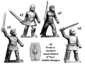 CRUS-08  Celtic Unarmoured Warrios w/ Sword