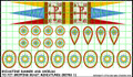 LBM-142 Byzantine Banner & Shield Sheet