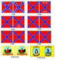 CW-15 Confederate Cavalry / Union Flags