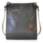 Bakem: Bruce Range Collection – Full-size Italian Calf Leather Cross-body Bag in Black