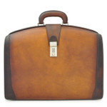 Brunelleschi Bruce Grande Briefcase for Laptop - Cognac Main View