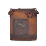 Bakem: Bruce Range Collection – Medium Italian Calf Leather Cross-body Bag in - Brown