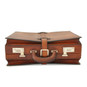 Taormina: Bruce Range Collection – Italian Calf Leather Top-Handle Briefcase in - Brown Front View