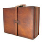 Taormina: Bruce Range Collection – Italian Calf Leather Top-Handle Briefcase in - Brown SideView