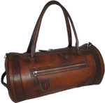 Nordkapp: Bruce Range Collection – Italian Calf Leather Duffel Bag in - Brown Main view