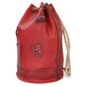 Patagonia: Bruce Range Collection: Italian Calf Leather Single Compartment Rope Handle Backpack in Ciliegia