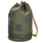 Patagonia: Bruce Range Collection: Italian Calf Leather Single Compartment Rope Handle Backpack in- Green